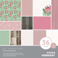 Kaisercraft - Flowering Natives Collection - 6.5 x 6.5 Paper Pad