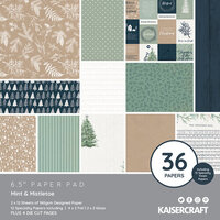 Kaisercraft - Mint and Mistletoe Collection - Christmas - 6.5 x 6.5 Paper Pad