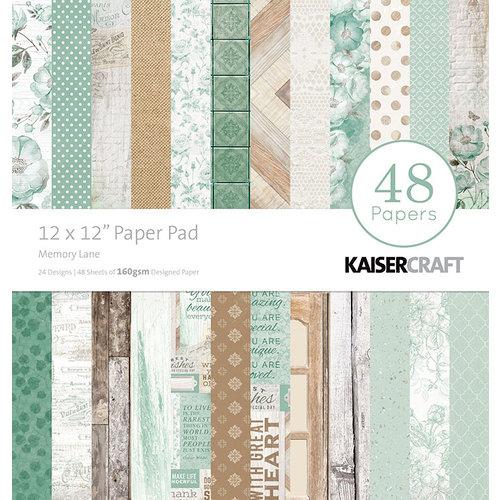 Kaisercraft - Memory Lane Collection - 12 x 12 Paper Pad