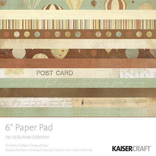 Kaisercraft - Up, Up and Away Collection - 6 x 6 Paper Pad