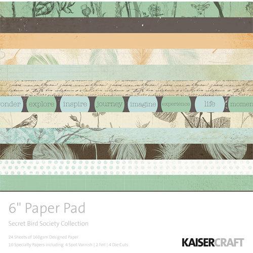 Kaisercraft - Secret Bird Society Collection - 6 x 6 Paper Pad