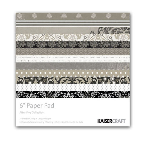Kaisercraft - After Five Collection - 6 x 6 Paper Pad