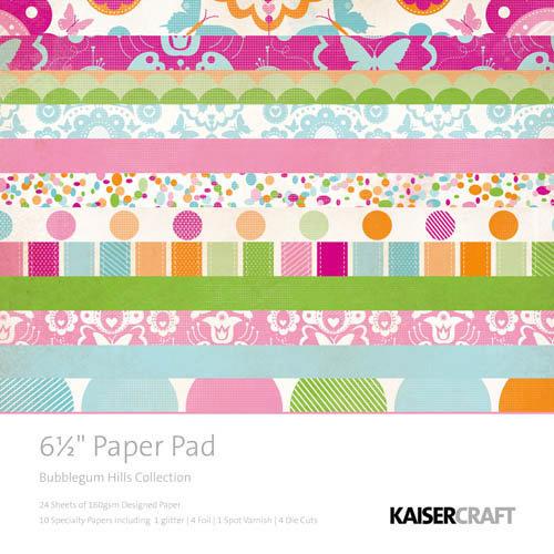 Kaisercraft - Bubblegum Hills Collection - 6.5 x 6.5 Paper Pad