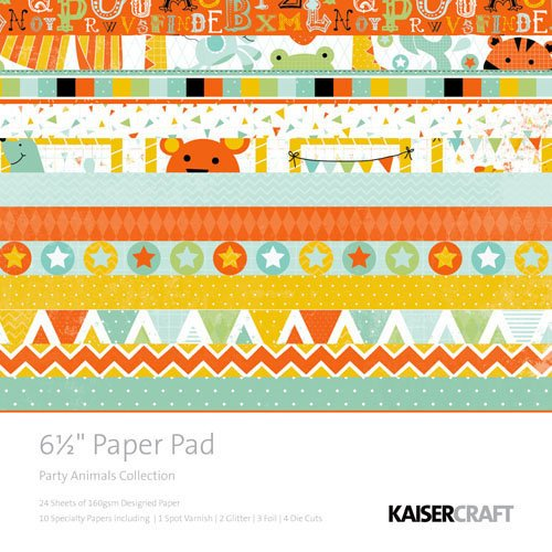 Kaisercraft - Party Animals Collection - 6.5 x 6.5 Paper Pad