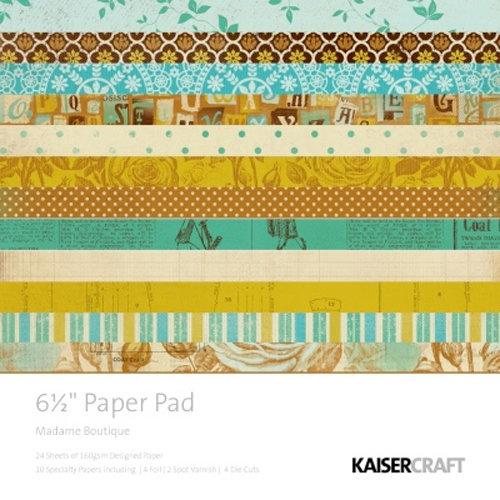 Kaisercraft - Madame Boutique Collection - 6.5 x 6.5 Paper Pad