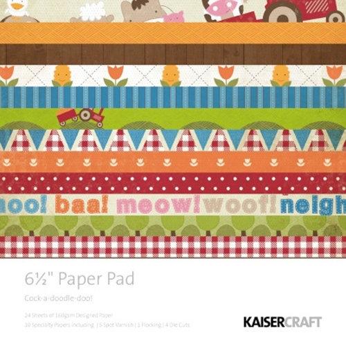 Kaisercraft - Cock-a-doodle-doo Collection - 6.5 x 6.5 Paper Pad