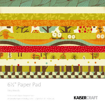 Kaisercraft - Tiny Woods Collection - 6.5 x 6.5 Paper Pad