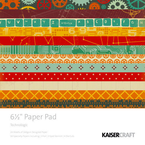 Kaisercraft - Technologic Collection - 6.5 x 6.5 Paper Pad