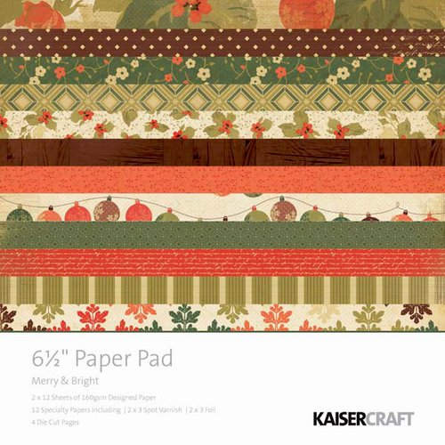 Kaisercraft - Merry and Bright Collection - Christmas - 6.5 x 6.5 Paper Pad