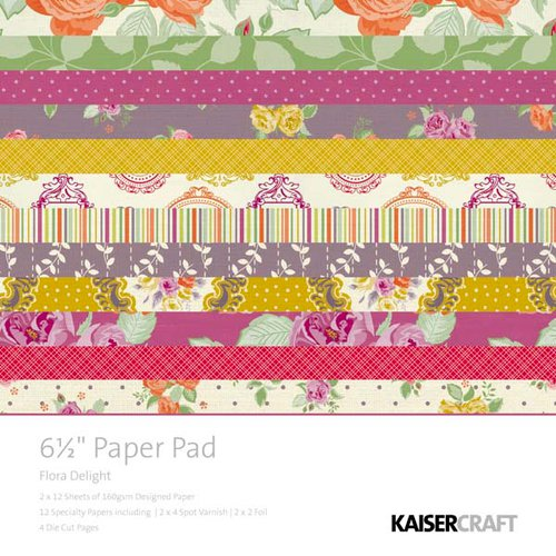 Kaisercraft - Flora Delight Collection - 6.5 x 6.5 Paper Pad