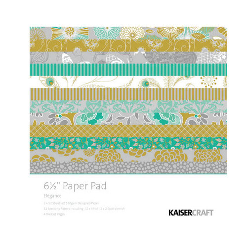 Kaisercraft - Elegance Collection - 6.5 x 6.5 Paper Pad