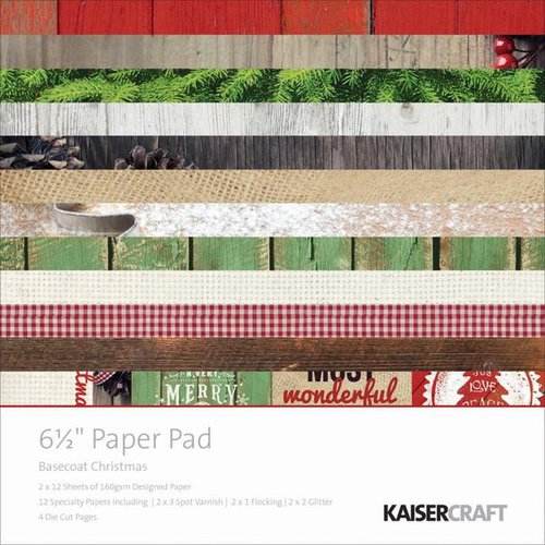 Kaisercraft - Basecoat Christmas Collection - 6.5 x 6.5 Paper Pad