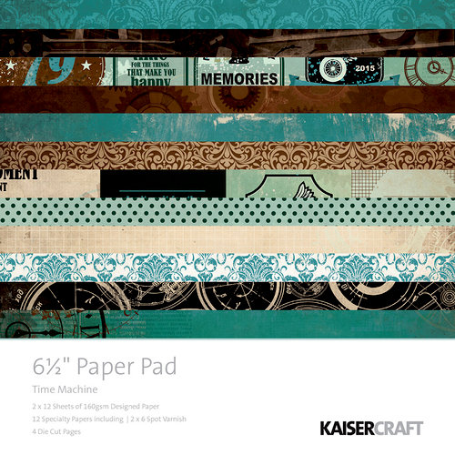 Kaisercraft - Time Machine Collection - 6.5 x 6.5 Paper Pad