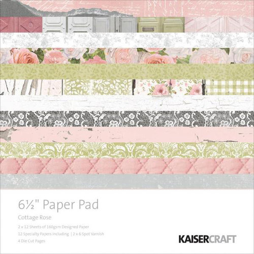 Kaisercraft - Cottage Rose Collection - 6.5 x 6.5 Paper Pad