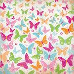 Kaisercraft - Bubblegum Hills Collection - 12 x 12 Paper with Glitter Accents - Fruity Galaxy