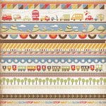 Kaisercraft - Little Toot Collection - 12 x 12 Paper with Varnish Accents - Road Trip