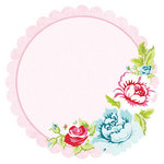 Kaisercraft - Miss Nelly Collection - 12 x 12 Die Cut Paper with Varnish Accents - Her Voice
