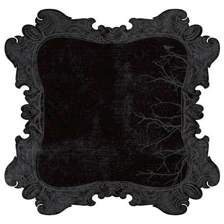 Kaisercraft - 13th Hour Collection - Halloween - 12 x 12 Die Cut Paper - Night