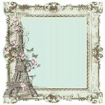 Kaisercraft - Bonjour Collection - 12 x 12 Die Cut Paper with Varnish Accents - Nancy