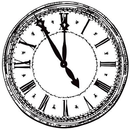 Kaisercraft - 12 x 12 Acetate Overlay - Clock Face