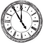Kaisercraft - 12 x 12 Acetate Overlay - Clock Face