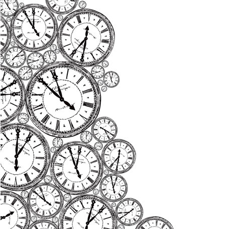 Kaisercraft - 12 x 12 Acetate Overlay - Clocks
