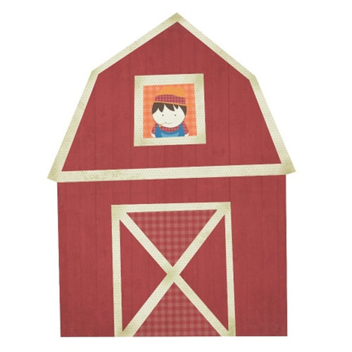 Kaisercraft - Cock-a-doodle-doo Collection - 12 x 12 Die Cut Paper - Barn