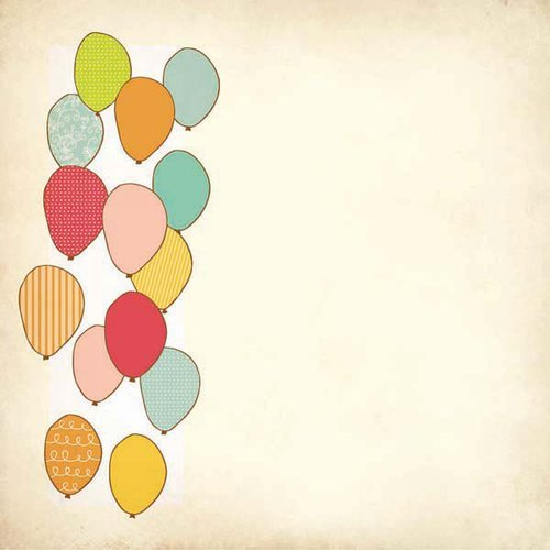 Kaisercraft - Save the Date Collection - 12 x 12 Die Cut Paper - Balloons