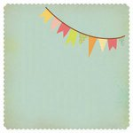 Kaisercraft - Save the Date Collection - 12 x 12 Die Cut Paper - Bunting