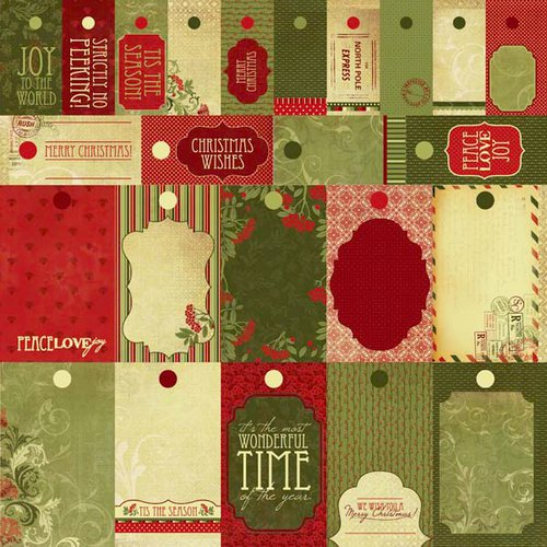 Kaisercraft - Twig and Berry Collection - Christmas - 12 x 12 Perforated Paper - To Froms