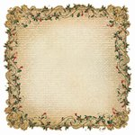 Kaisercraft - Turtle Dove Collection - Christmas - 12 x 12 Die Cut Paper - Glimmer