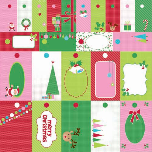 Kaisercraft - Mint Twist Collection - Christmas - 12 x 12 Perforated Paper - To Froms