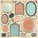 Kaisercraft - Periwinkle Collection - 12 x 12 Paper with Varnish Accents - Frames