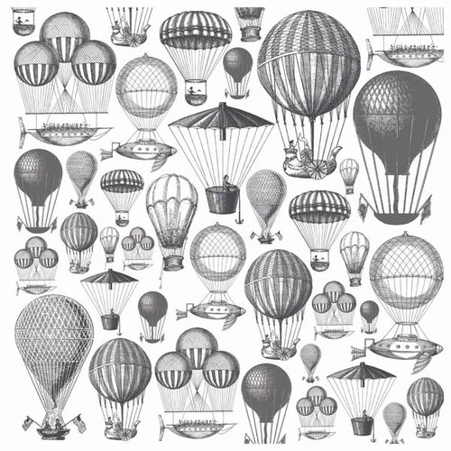 Kaisercraft - Periwinkle Collection - 12 x 12 Acetate Overlay - Hot Air Balloons