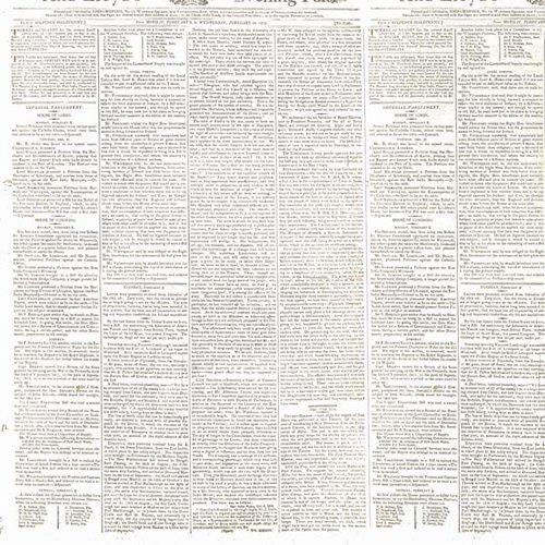 Kaisercraft - Periwinkle Collection - 12 x 12 Acetate Overlay - Newsprint