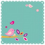 Kaisercraft - Butterfly Kisses Collection - 12 x 12 Die Cut Paper - Twig