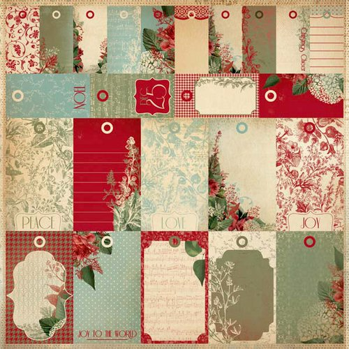Kaisercraft - Just Believe Collection - Christmas - 12 x 12 Perforated Paper - To Froms