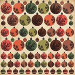 Kaisercraft - Merry and Bright Collection - Christmas - 12 x 12 Paper with Foil Accents - Baubles