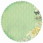 Kaisercraft - Pickled Pear Collection - 12 x 12 Die Cut Paper - Lime