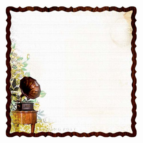 Kaisercraft - Pickled Pear Collection - 12 x 12 Die Cut Paper - Chives
