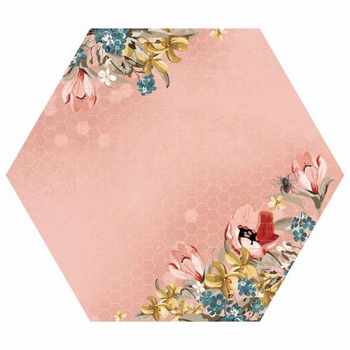 Kaisercraft - Forget-Me-Not Collection - 12 x 12 Die Cut Paper with Varnish Accents - Orchid