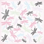 Kaisercraft - Lavender Haze Collection - 12 x 12 Paper with Varnish Accents - Puce