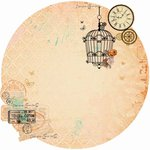 Kaisercraft - Miss Empire Collection - 12 x 12 Die Cut Paper with Foil Accents - Copper