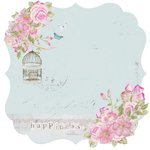 Kaisercraft - True Romance Collection - 12 x 12 Die Cut Paper - Rendezvous