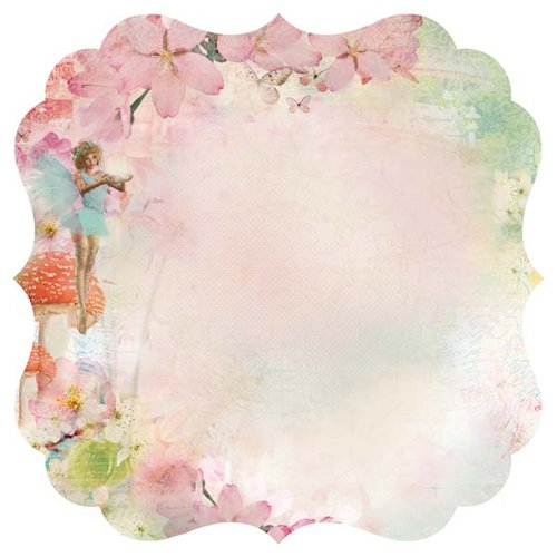 Kaisercraft - Enchanted Garden Collection - 12 x 12 Die Cut Paper - Believe