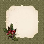 Kaisercraft - Yuletide Collection - 12 x 12 Die Cut Paper with Glossy Accents - Merry