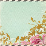 Kaisercraft - All That Glitters Collection - 12 x 12 Paper with Foil Accents - Golden Flowers