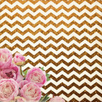 Kaisercraft - All That Glitters Collection - 12 x 12 Paper with Glitter Accents - Chevron