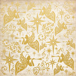 Kaisercraft - Holy Night Collection - Christmas - 12 x 12 Paper with Foil Accents - Angels