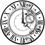 Kaisercraft - Time Machine Collection - 12 x 12 Acetate Paper - Time